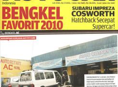 Majalah AUTO CAR Menobatkan Bengkel Rotary Bintaro sebagai Bengkel Favorit 2010