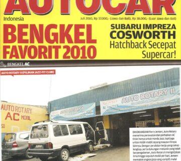 AUTO ROTARY BINTARO TERPILIH SEBAGAI BENGKEL FAVORIT 2010 VERSI MAJALAH AUTO CAR